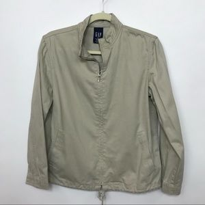 GAP MENS XS cotton wind breaker jacket tan B7 0316
